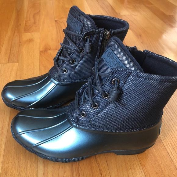 sperry duck boots glitter